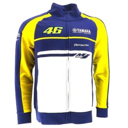Wholesale Riding Shirt Motorcycle - Free shipping YAM motorcycle pure cotton VR46 Valentino Rossi culture hoody motorcycle casual sweat riding cotton jacket