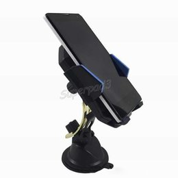 Wholesale Glass Cell Phone Holder - Free Shipping 100pcs Car Mobile Phone Mount Holder Dashboard Cell Phone Car Kit Bracket GPS Mount Stand Suction Cup Windshield Glass Holders