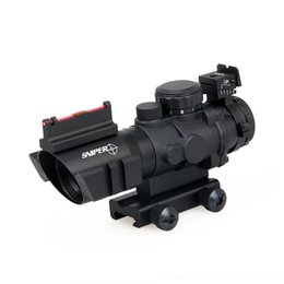 Wholesale Airsoft Optics - Free shipping 4x32 Dual Illuminated Tactical Compact Optic Rifle Scope W  Airsoft Scope  Magnificate Scope For Hunting And Shooting CL1-0105