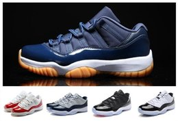 Wholesale Red Cdp - Wholesale Retro 11 Top Quality Bred Black White Varsity Red CDP Sports COUNTDOWN BRED MIDNIGHT NAVY Basketball Shoes Men Women Size