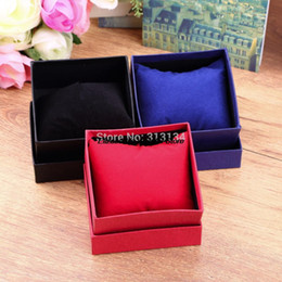 Wholesale Earrings Necklace Black - Wholesale-1pcs Practical Jewelry Box Present Gift Boxes for Bracelet Bangle Necklace Earrings Watch Case with Foam Pad 2016 Hot Selling