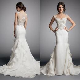 Wholesale Most Beautiful Wedding Dress Mermaid - Vestido Novia Most Beautiful Mermaid Custom Made Wedding Dresses For Cheap Ruffle Appliques Sweathert Bridal Gown 2017