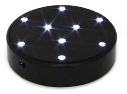 Круглый стол онлайн-4 дюйма 10 см диаметр белый светодиодный свет круглый светодиодный свет база для таблицы Центральным украшения светодиодные пластины