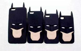Wholesale Iphone Anime Casing - 2016 3D Cartoon Anime Superhero Batman Silicone Rubber Back Cover Case For iPhone 5 5s 6 6s plus 4 4s SE S3 S4 S5 S6 G530 A3 A5