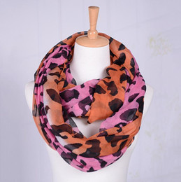 Wholesale Womens Leopard Scarves - Free Shipping Womens Infinity Scarf Leopard Print Scarf Neck Wrap Voile Scarf