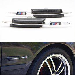 Wholesale Bmw Led Marker - For BMW E81 E82 E87 E88 E90 E91 E92 E60 E61 Auto LED steering Fender Side Lamp Car LED Side Marker Turn signal Light With M logo