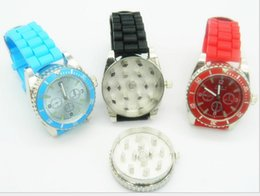 Wholesale Grinder Watches - Fashion Classic watch Watch shape Tobacco grinder somking grinder Wristwatch watch Real Metal Grinder for smoking pipe