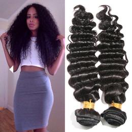 Wholesale Deep Curl Brazilian Weft - Cheap 9A Peruvian Brazilian Virgin Human Hair Extension 100% Unprocessed Human Hair Weave Double Weft Deep Wave Curl 4bundles lot