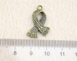 Wholesale Antique Bronze Scarf Jewelry - 40Pcs 23*16mm Antique Bronze Color Scarf Charms Zinc Alloy DIY Handmade Jewelry Pendants Wholesale