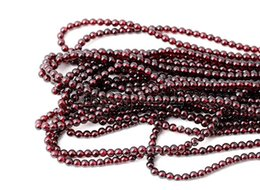 Wholesale Loose Garnet Beads - Natural Red Garnet Round Beads 4mm 4MM Genuine Natural Red Garnet Round Gemstone Loose Beads 15inch Strand AAA