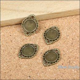 Wholesale Metal Charms Bronze Frame - Vintage 65PCS Circular frame Connector Pendant Charm Antique bronze Zinc Alloy fit Bracelet Necklace DIY Metal Jewelry Findings