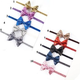 Wholesale Pc Times - 30 Special Offer Time-limited Pcs lot High Quality Fashion Handmade Bling Glitter Hair Bow Headband for Baby Hairband 2016 Kids Accessorie
