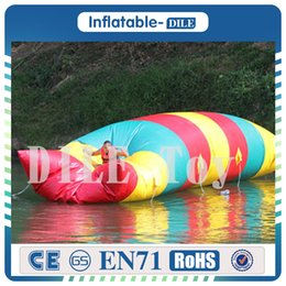 Wholesale Park Playing - Free Shipping!Free Pump! Blob Bouncing Bag Inflatable Jumping Bag Size 4*2 M Playing With Water Trampoline Water Park
