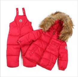 Wholesale Children Sporty Suit - Minus 20 Degrees Children Outerwear Hooded Warm Coat Sporty Ski Suit Kids Set Waterproof Windproof Boys Girls Jackets For 2-5T