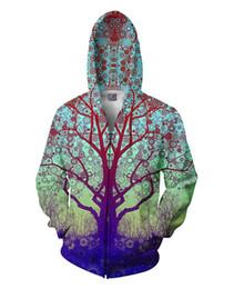 Wholesale Mens Star Jacket - Fashion Mens Winter Warm Red Star Trip Tree Hoodie Jackets Women Hoodie Dress Zipper Up Navy Blue Green Coat Outwear Plus US Size XXL XXXL