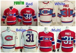 Детские футболки онлайн-2016 Молодежные мальчики хоккейные майки # 31 Carey Price Jersey Kids Home красный Carey Price