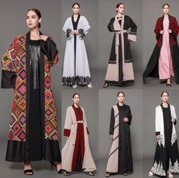 Wholesale Drape Sleeve Maxi Dress - Newest Style Abayas Coat Long Sleeves 2018 Fashion Arabic Dubai Muslim Middle East Abaya Kaftan Long Party Evening Overskirts