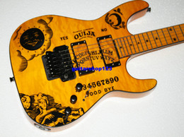 Wholesale Electric Guitars Ouija - Newest KH-2 Ouija yellow WORDS Electric Guitar OEM Guitars Free Shipping
