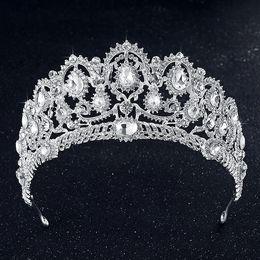 Wholesale Hot Hair Jewelry Crystal - Luxury Shining Bridal Tiaras Royal Wedding Rhinestones Crown Jewelry Hair Accessories Baroque Veil Tiara Headband Crowns Hot Sale