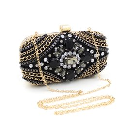 Wholesale Black Diamond Cocktail Evening Party - Clutchs shoulder bags party purses for women purses ladies handbags silver clutch bags evening bags black cocktail purse