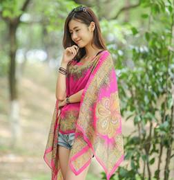 Maillots de bain en mousseline de soie imprimée Paisch Bikini Cover Up Top écharpes poncho sarongs de plage ? partir de fabricateur