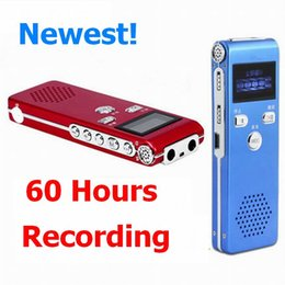 Wholesale Mp3 Speaker Cases - 60hours recording 16GB Digital Audio Voice Recorder Pen Metal case Dictaphone Clock function MP3 Player Stereo Voice record Build speaker