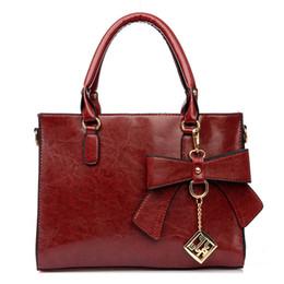 Wholesale vintage leather doctors bag - Wholesale- Bow sequined chains women shoulder bag 4 colors women handbags pu leather bag 2016 hot fashion vintage bag AA543