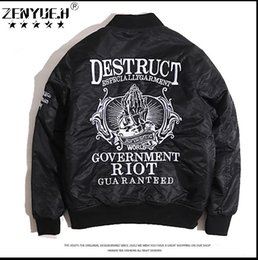 Wholesale M Movement - The fashion brand MA1 embroidered coat jackets male pilots hip-hop movement windcheater baseball uniform jacket coat