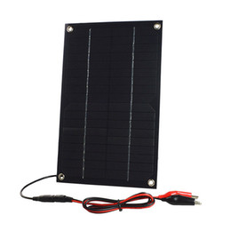 Wholesale Solar Systems For Homes - 2pcs lot 6W 18V Semi-Flexible Solar Panel DC Female Output Solar Cell with Alligator Clip for Battery Charging and Solar System Test