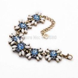 Wholesale Beads Display Designs - New Design Jewelry Infinity Bracelet Personalized Blue Flowers Transparent Lace Friendship Bracelet jewelry crimp jewelry bracelet display