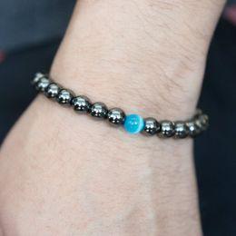 Wholesale Mens Hematite Bracelets - New Women Mens Healing 8mm Natural Stone Mala bracelet Men Jewelry Hematite bracelet Charm Commodity hot sale