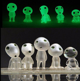 Wholesale Small Figurines - Princess Mononoke Luminous Elves Tree toy Elf Posture Figurines Hayao Miyazaki Cartoon Alien Small Toy Micro Landscape accessories KKA2672