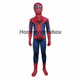 Wholesale Kids Lycra Bodysuit - Hot Sale 2017 Red And Blue Lycra Spandex Full Body Zentai suit Superhero Kids Spider-man Bodysuit Costume For Halloween
