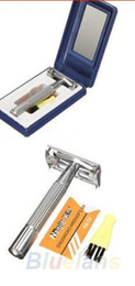 Wholesale Double Edge Safety Shaving Razor - Men's Hand Safety Classic Traditional Double Edge Shave Shaving Hair Blade Razor 1G65 razors blades menclippers trimmers