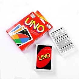 Wholesale Popular Poker - UNO Card Games UNO Cards Fun Poker Playing Cards Family Funny Board Games Standard Popular Entertainment DHL Free