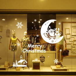 Wholesale Show Window - Show Window Wall Stickers for Christmas Decorative Wall Decals Xmas Home Decoration Window Display Removable Wallpaper Product Code :90-2008
