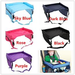 Wholesale Travel Trays Car - kids Car Seat Travel tray waterproof play n Childrens Snack Play Learn drawingTray organizer pushchair hot