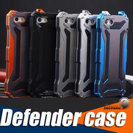 Wholesale Iphone Gorilla Glass Cases - For apple iphone 7 6 6S 6S plus Lunatic Shockproof Aluminum Gorilla Glass Metal Case Cover IP68 R-JUST Gundam Case