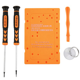 Wholesale Iphone 4s Hole - Hot JAKEMY JM-8122 5 in 1 Repair Tools Holes Matching Board Kit for iPhone 4S New