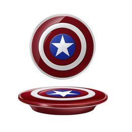 Wholesale Cargador Galaxy - Captain American cell phone Qi Wireless Charger charging pad For SAMSUNG Galaxy S6 S7 Edge G920 G9250 cargador inalambrico chargeur