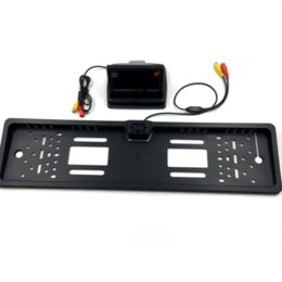 Wholesale Sensor Parking Lcd For Car - New 4.3 inch Foldable Digital TFT LCD Monitor + European Car License Plate Frame Car Rear View Camera for Parking Assistance