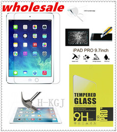 Wholesale Hd Mirror Screen Protector - wholesale 9H HD Premium Tempered Glass Film Screen Protector for iPad 6 5 4 3 2 Mini Air 1
