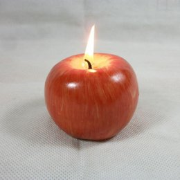 Wholesale Fashion Home Parties - Fashion Hot Vintage Apple candle home docor romantic party decorations Apple scented candles Birthday Christmas wedding decor candles