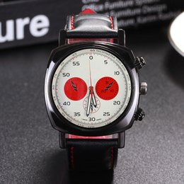 Wholesale Top Brands Fashion Logos - Fashion Top Brand Men's Boy 3 Dials style Leather quartz Wrist Watch full logo F01