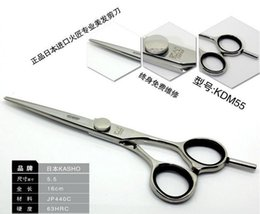 Wholesale Scissors For Hair Cutting - Wholesale 5.5 inch KASHO Hair Cutting Scissors SUS440C stainless steel, free shipping,High quality hairdresser shears for salon