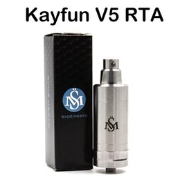 Wholesale top e cigs - High Quality Kayfun V5 RTA Atomizers 316 Stainless Steel Vaporizer For E Cigs Top Filling Kayfun 5 Tank Thread Box Mods Fast Shipping