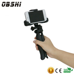 """Wholesale Universal Adapter For Camera - Universal Mini Tripod 75"""" Rotation Desktop&Handle Stabilizer For Mobile Phone With Cell Phone Holder and Tripod Adapter Mini Camera Stand"""