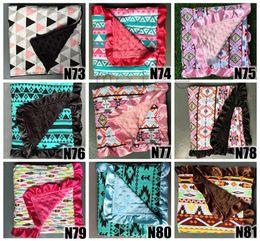 Wholesale Baby Blanket Patterns - 2016 ins baby minky blankets infant zigzag chevron swaddle children flower leopard camouflage blankets boys girls gold dot owl blankets