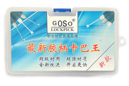 Wholesale Lock Pick Tool Kit - high quality GOSO Kaba and Dimple Lock unlock Kit 14 different picks Locksmith tool house door Lockpick set