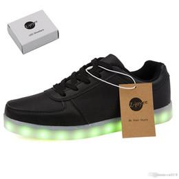 Wholesale White Slips For Children - LED Light Up Shoes Fashion Sneaker for Men Women Kids Child Boy Girls Slip-on with 11 Color Modes 1